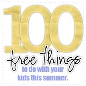 100 free things to do with your this summer